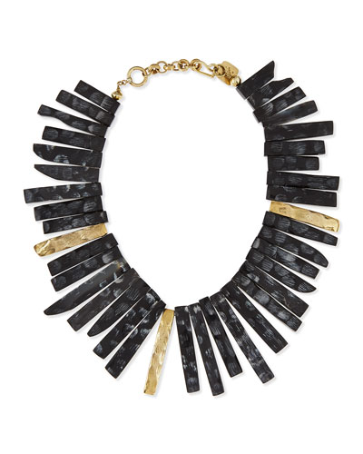 Fimbo Dark Horn & Bronze Collar Necklace