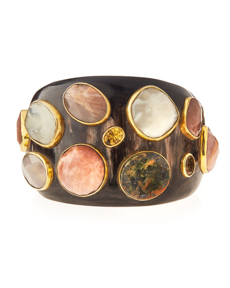 Ashley Pittman Mawe Dark Horn Cuff Bracelet