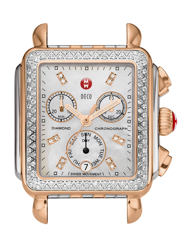 99b616469cf MICHELE Deco Diamond Two-Tone Watch Head   18mm Deco Bracelet Strap ...