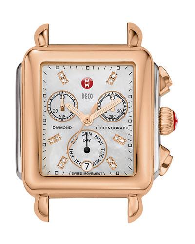 MICHELE Deco Diamond Two-Tone Watch Head