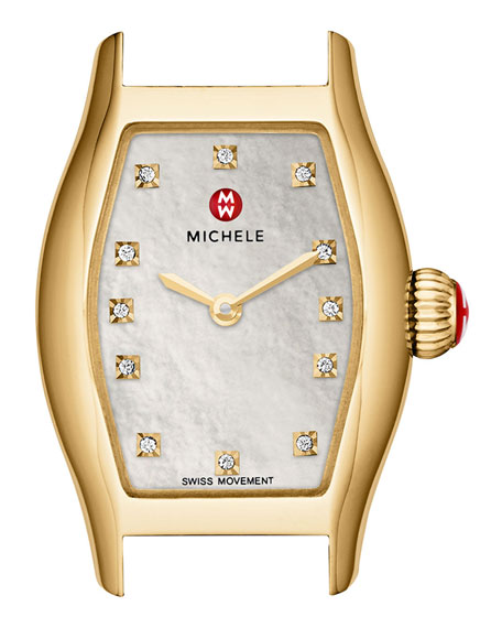 MICHELE Urban Coquette Gold-Plated Watch Head & 12mm