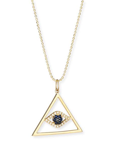 Evil Eye Pyramid Pendant Necklace