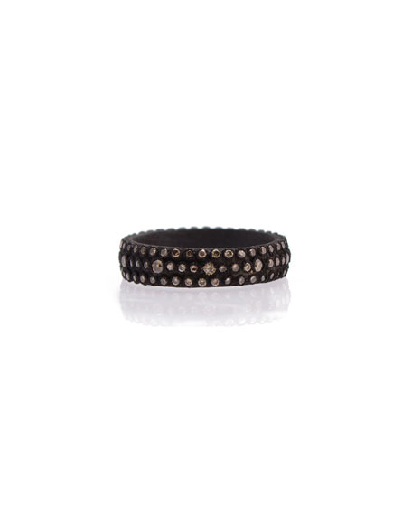 Armenta Old World Champagne Diamond Stackable Eternity Ring