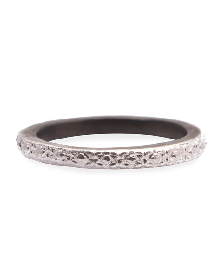 Armenta New World Carved Silver Stackable Ring