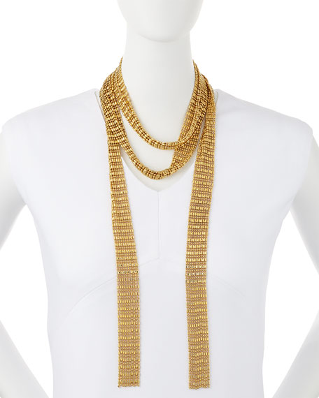 Leighton Gold-Plated Scarf Necklace