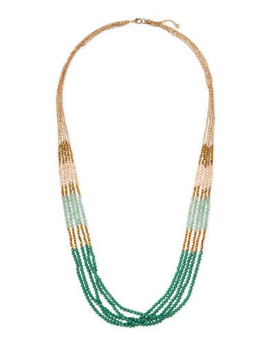Multi-Strand Beaded Necklace, Mint