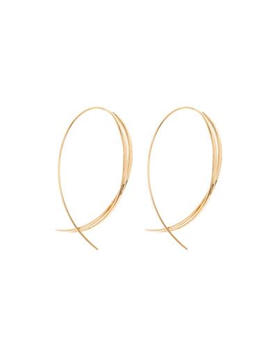 Large Twist Upside Down Hoop Earrings