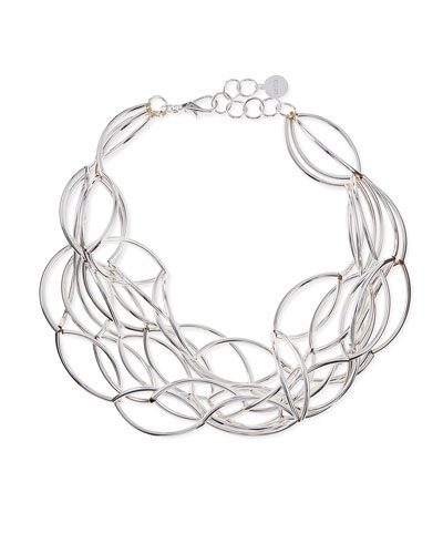Silver-Plate Twisted Collar Necklace