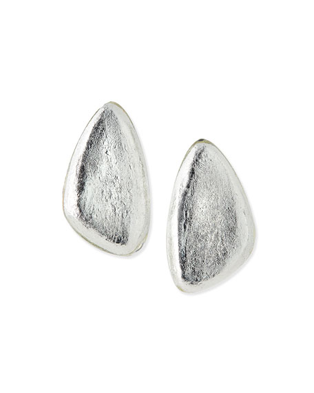 Freeform Silver Foil Earrings