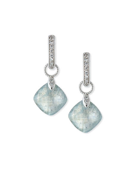 JudeFrances Jewelry Labradorite Cushion Earring Charms