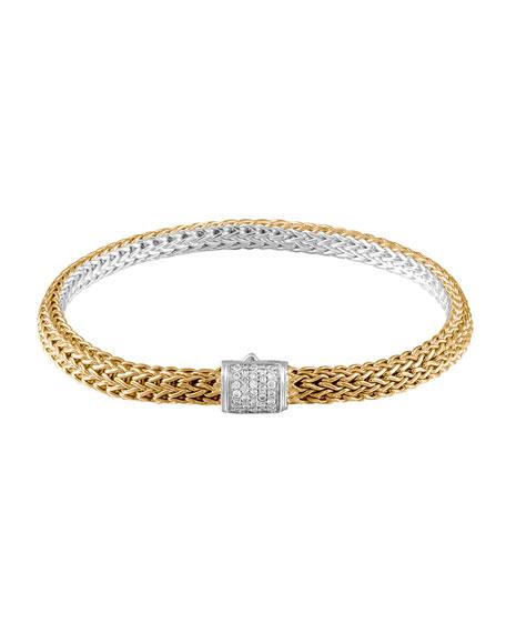 John Hardy Classic Chain Gold & Silver Diamond