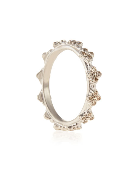 Diamond Crivelli Station Stackable Ring