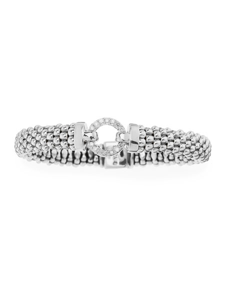 LAGOS Enso Diamond Caviar Bracelet, 9mm