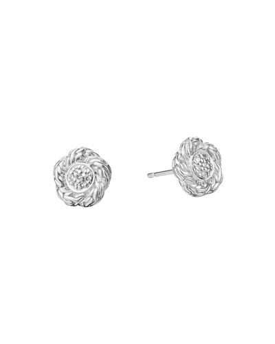 Classic Chain Small Diamond Stud Earrings