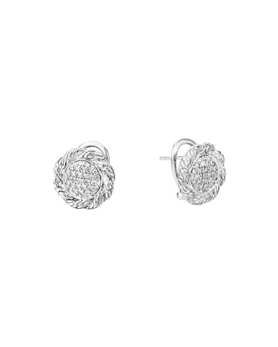Classic Chain Medium Diamond Stud Earrings
