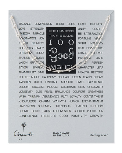 100 Good Wishes Silver Necklace