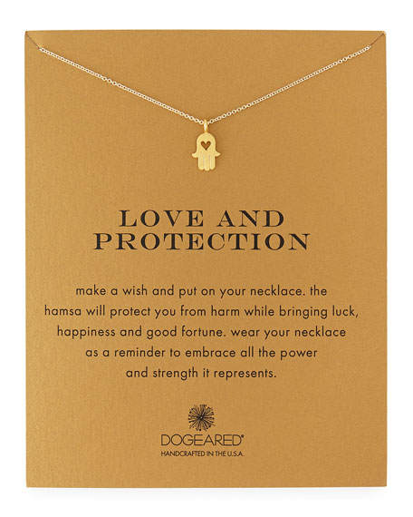 Dogeared Love & Protection Gold-Dipped Pendant Necklace