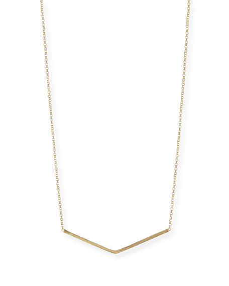 Balance Wide-V Pendant Necklace, Gold-Dipped