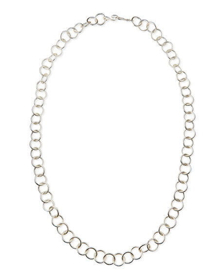 "Silver-Plated Classic Chain Necklace, 42""L"
