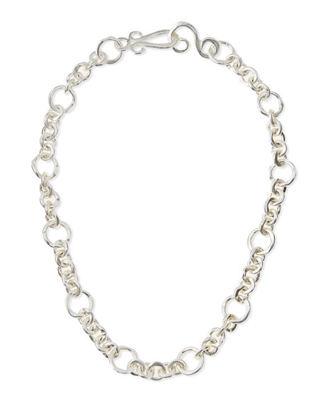 "Silver-Plated Coronation Chain Necklace, 18""L"