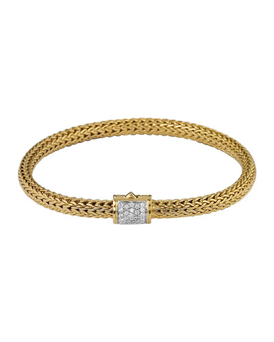John Hardy Classic Chain 18k Gold & Diamond