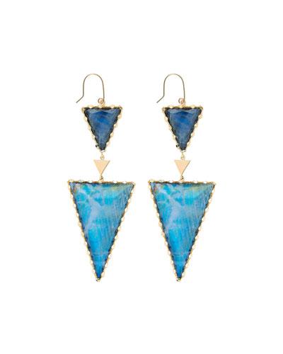 Portofino Rainbow Moonstone & Black Onyx Doublet Earrings