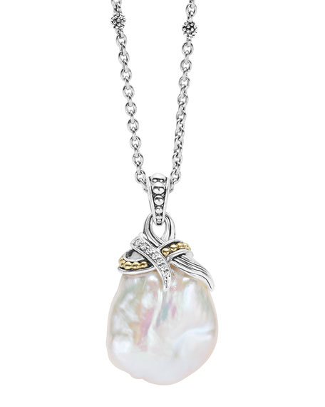 Luna Baroque Pearl Pendant Necklace