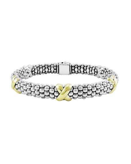 Lagos Caviar Gold & Silver X-Station Bracelet