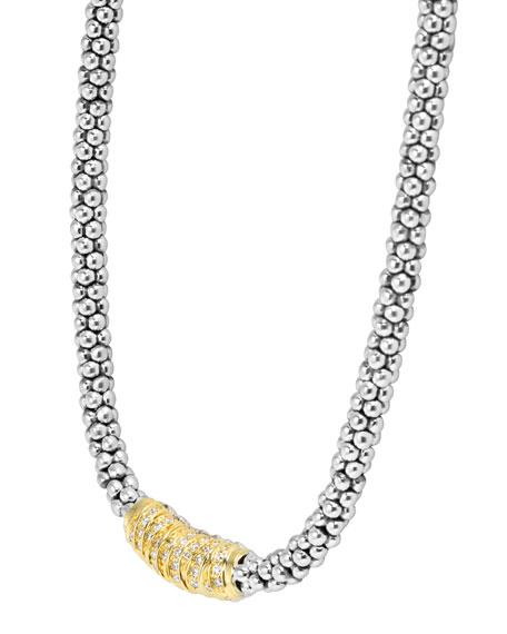 """Embrace Diamond Station Necklace, 16""""L"""