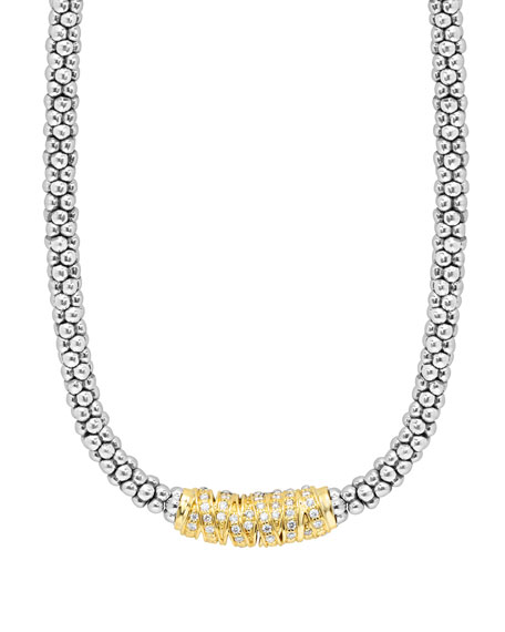 "Embrace Diamond Station Necklace, 16""L"