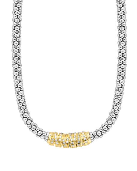 Lagos Embrace Diamond Station Necklace, 16