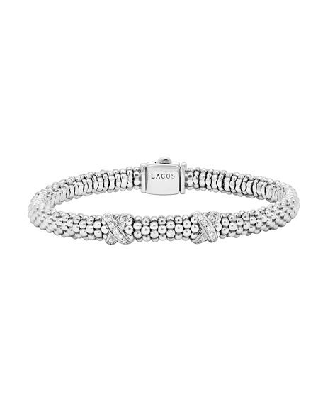 Lagos Diamond Double-X Station Bracelet