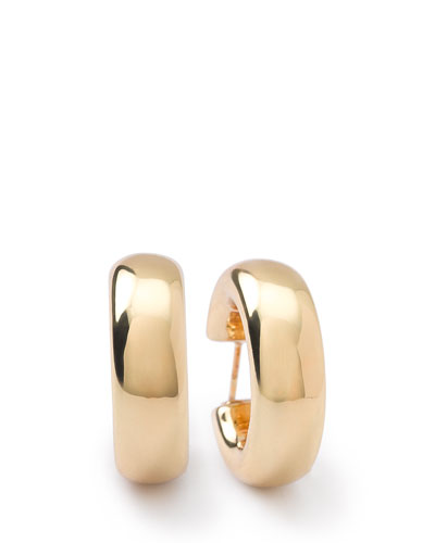Ippolita 18K Glamazon Thick Small Flat Hoop Earrings