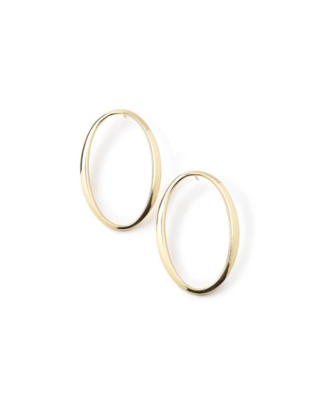 Ippolita 18K Glamazon Tall Oval Sculpted Hoop Earrings