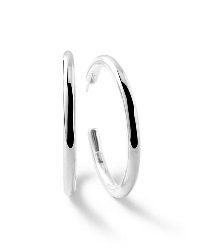 Ippolita Sterling Silver Glamazon #4 Hoop Earrings