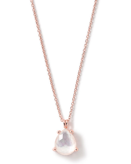 Rock Candy Rose Pear-Shape Pendant Necklace