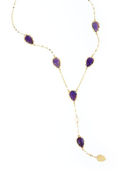 Lana Riviera Amethyst Y-Drop Necklace