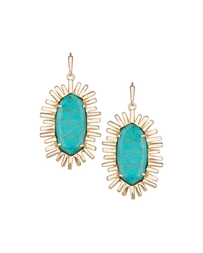 Mariah Magnesite Earrings, Turquoise-Hued