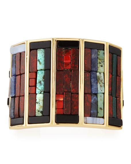 Lulu Frost Petra Mosaic Cuff Bracelet