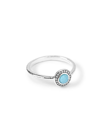 Silver Mini Lollipop Diamond Ring