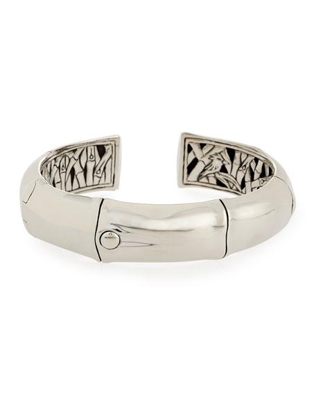 John Hardy Bamboo Silver Cuff Bracelet, Size M
