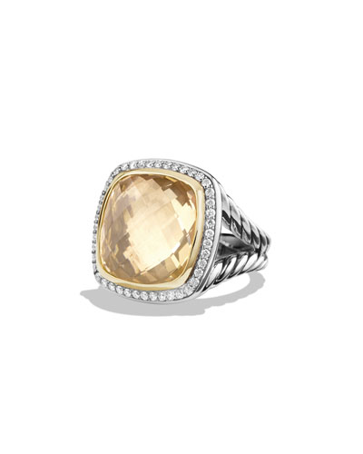 Albion Ring with Champagne Citrine and Diamonds