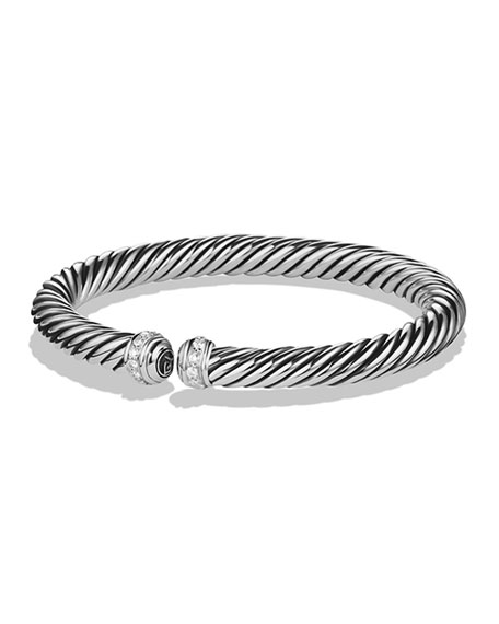 David Yurman 7mm Cablespira Diamond Bracelet
