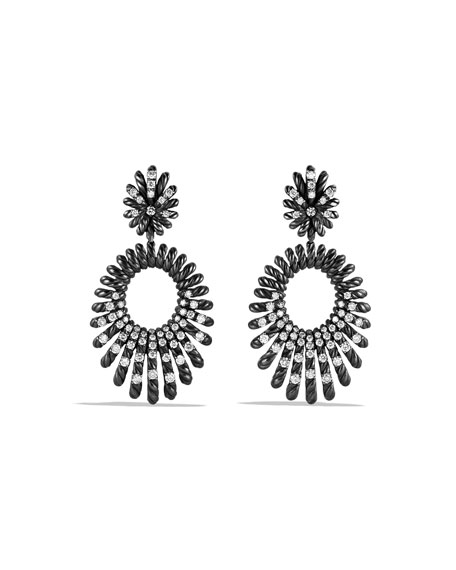 David Yurman Tempo Double-Drop Diamond Earrings