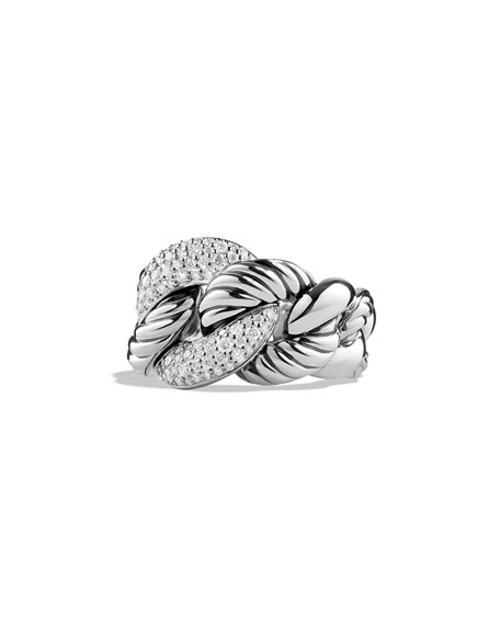 David Yurman Belmont Curb Link Ring with Diamonds