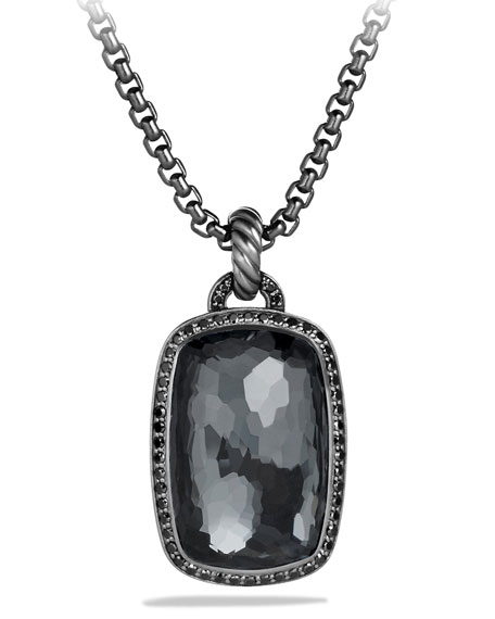 David Yurman Albion Pendant with Hematine and Black