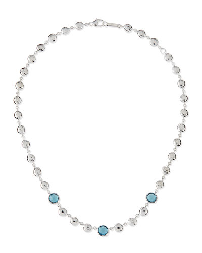 Silver Rock Candy Multi-Stone Necklace in London Blue Topaz, 17