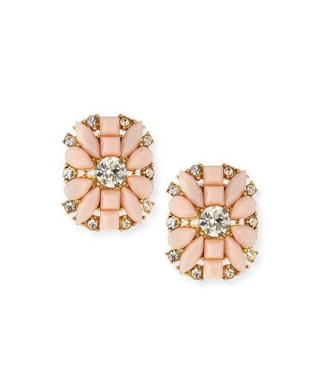 turn heads floral stud earrings, pink