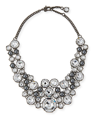 Crystal Octagon Link Necklace