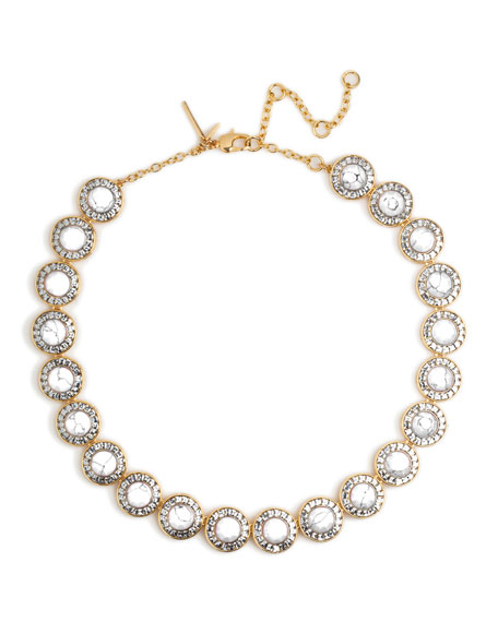 Lele Sadoughi Token Crystal Collar Necklace
